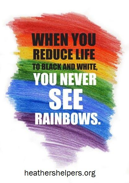 See rainbows.